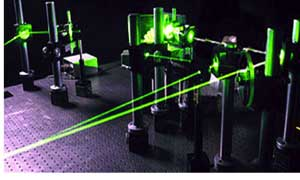 Holograms are recorded by lasers