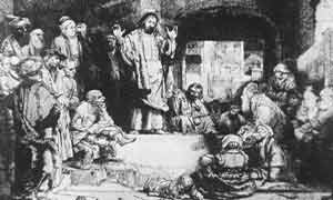 Etchings of the life of Christ by world-renowned artist Rembrandt